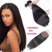 Allrun Hair Brazilian Virgin Hair Straight Wave 4 Bundles 7A Unprocessed Brazilian Straight Hair Natural Colour Brazilian Hair Weave Bundles