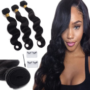 Brazilian Virgin Hair Body Wave 3 Bundles Remy Human Hair Weaves 100% Unprocessed Hair Extensions Natural Colour 8A