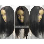 Jolitime Hair Short Bob Wigs Black Colour Synthetic Lace Front Wig Heat Resistant Fibre Hair Wigs 41cm