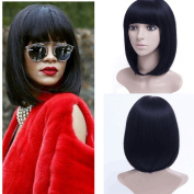 36cm Black Bob Wig Short Synthetic Wigs For Black Women Heat Resistant Synthetic Hair For Black Women Hairpieces Synthetic Hair wigs