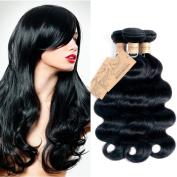 MONIKAHAIR Brazilian Virgin Human Hair 3 Bundles 300g Body Wave 6A Grade Remy Human Hair Weaves Extensions Natural Black