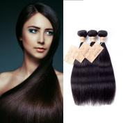 MONIKAHAIR Brazilian Virgin Human Hair 3 Bundles 300g Straight 6A Grade Remy Human Hair Weaves Extensions Natural Black