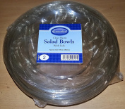 Round Clear Salad Bowl Bowls Plastic Disposable With Lid 2840ml/2840cc
