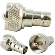 Tutoy BNC Female to UHF Male PL-259 Coax RF Adapter Connector