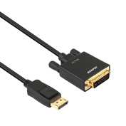 Active DisplayPort to DVI Adapter, Benfei Active Dp Display Port to DVI Single Link Converter Male to Male Gold-Plated Cord 1.8m Black Cable for Lenovo, Dell, HP and other brand