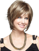 Aukmla Wigs for Women Natural Heat Resistant and Full Wavy Wigs High Quality Wig with Free Wig Cap