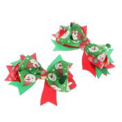 MagiDeal Christmas Xmas Hair Pin Bow Girls Ladies Ribbon Accessory Tie Clip Gift