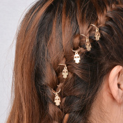 Bodhi2000 20Pcs Women's Girl's Cute Hand Cross Shell Leaf Ring Hair Rings Hair Clips Hair Jewellery for Braids Plaits