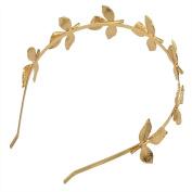MagiDeal Vintage Greek Style Leaf Design Gold Headband Women Girl Hair Decoration