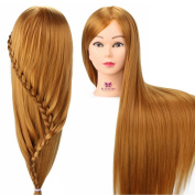 Neverland Beauty 80cm 100% Synthetic Fibre Hair Training Head Professional Hairdressing Practise Mannequin Manikin Doll (Table Clamp Holder Included) For College and Professional Use