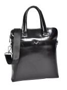 Italian Leather Cross Body Organiser Slimline Shoulder Messenger Bag H9811 Black