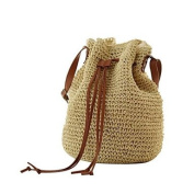 Women Straw Outdoor Shoulder Bag All Seasons