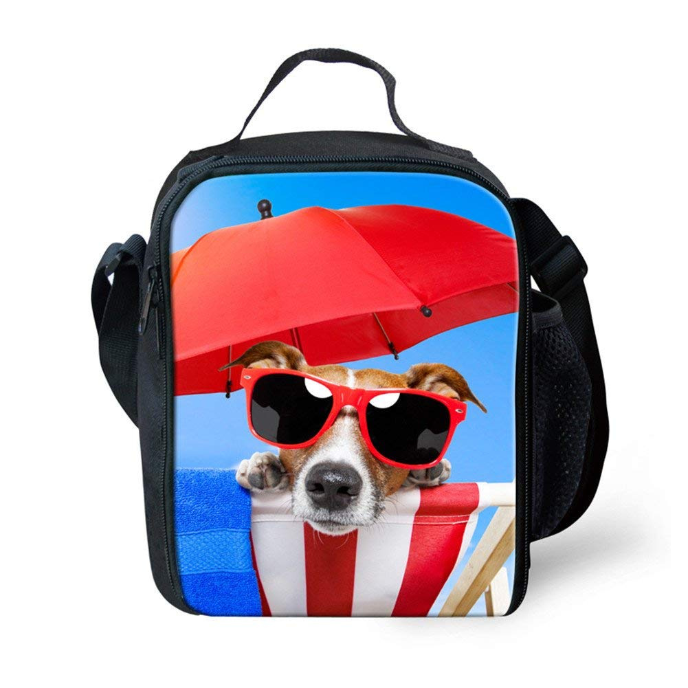 7e5e0aaf5f66 Coloranimal Stylish 3D Pet Dog Pattern Outdoor Beach Cooler Lunch Bags