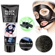 Mousand Blackhead Remover Mask,Blackhead Purifying Peel Off Mask,Activated Charcoal Blackhead Exfoliators Remover Clear Mask Black Mud Pore Removal Strip Mask For Face Nose