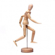 20cm Wooden Jointed Doll Man Figures Model Painting Sketch Cartoon
