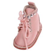 MagiDeal 1/6 Lovely Pink PU Leather Martin Boots Shoes for 30cm Blythe Doll Clothes Kids Toy Playset