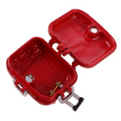 MagiDeal Iron Travel Luggage Box Suitcase for 1:12 Dolls House Miniature ACCS Red
