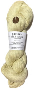Hand Dyed Alpaca Silk Yarn, Solid Buttercream, Lace Weight, 100 Grammes, 875 Yards, 70/30 Baby Alpaca / Mulberry Silk