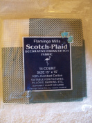 Green Scotch-Plaid 14 Count Aida Cloth