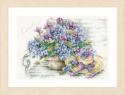 Lanarte - Hydrangea on a bench - Marjolein Bastin Cross-stitch kit