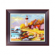 Diamond Embroidery Painting,5D Diamond Embroidery Painting Seaside Scenery Cross Stitch DIY Craft Home Decor Gift
