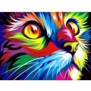 kixing(TM) 5D Diamond Cat Embroidery Painting Animal Rhinestone Cross Stitch Decor DIY