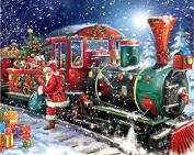 LIPHISFUN 5D DIY Diamond Painting Christmas Santa Claus Train Full Square Rhinestone Cross Stitch Diamond Embroidery Mosaic Decor
