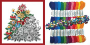 Design Works Zenbroidery Stamped Embroidery Kit w/ Thread ~ CHRISTMAS TREE #4025