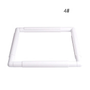Plastic Embroidery Frame Cross Stitch Hoop Square Sewing Cross DIY Craft Tool 28cm