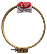 25cm No-Slip Embroidery Hoop, Interlocking Tongue and Groove Design