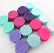 128 Wool Blend Felt 2.5cm Circles - Fairy Path Colours - Made in USA - OTR Felt