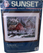 Sunset Needlepoint Kit An Amish Winter Horse and Buggy in the Snow 12101 By Al Koenig 1994