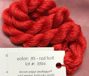 SILK & IVORY- RED HOT-093- 1 SKEINS WITH THIS LISTING