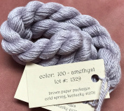 SILK & IVORY-AMETHYST-100--1 SKEINS WITH THIS LISTING