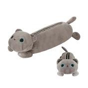 Gloveleya Cartoon Cat School Pencil Bag Pen Case Comestic Makeup Pouch 25cm