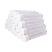 Pandahall Elite 30 PCS Clear Plastic Tube Bead Containers Large Storage Tubes 130x25mm