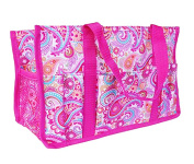 BVGIFTS Utility Organiser mini tote hand bag keep it caddy in Pink Paisley