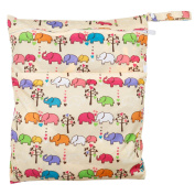 TRIXES Colourful Elephant Washable Baby Nappy Nappy Bag for Buggy Pram Pushchair Cute Animal Pattern Unisex Design