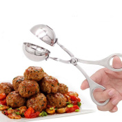 QuiCi Stainless Steel Non-Stick Meatball Scoop Mini Meat/Melon Baller Squeeze Made Cookie Dough Scoop