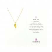 Dogeared 14 ct Gold Plated Angel Love Open Wing Necklace of Length 45.72 cm
