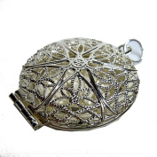 Scented, Perfume Pendant Medallion in Art Nouveau Style Foldable