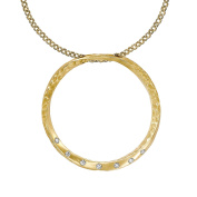 Dower & Hall Eternal 9ct Yellow Gold Diamond Large Open Circle Pendant of 46 cm