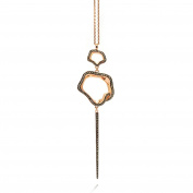 Babette Wasserman Sterling Silver Rose Gold Plated Flower Pendant RRP £308