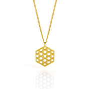 Laura Gravestock Promise 18ct Gold Plated Silver Lattice Pendant Necklace of 43cm