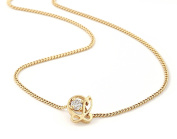 Oak Fine Jewellery 18ct Gold Plated 0.10ct Diamond Pendant with L is For Love 43cm Chain