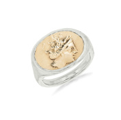 Laura Lee Jewellery Women's 925 Sterling Silver Ancient Greek Nymph Ring - Size L