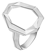 Ron Hami Sterling Silver Geometric Carved Ring