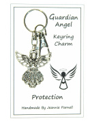 W025 - Guardian Angel Charm Keyring - Protection - Handmade by Jeannieparnell