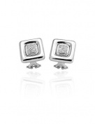 Nuovi Gioielli, 18ct Withe Gold Earrings with diamonds