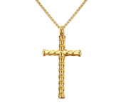 Joielavie Jewellery Dragonscale Crucifix Cross Pendant Necklace Stainless Steel Charm Jewellery For Men Women Colour Silver Gold